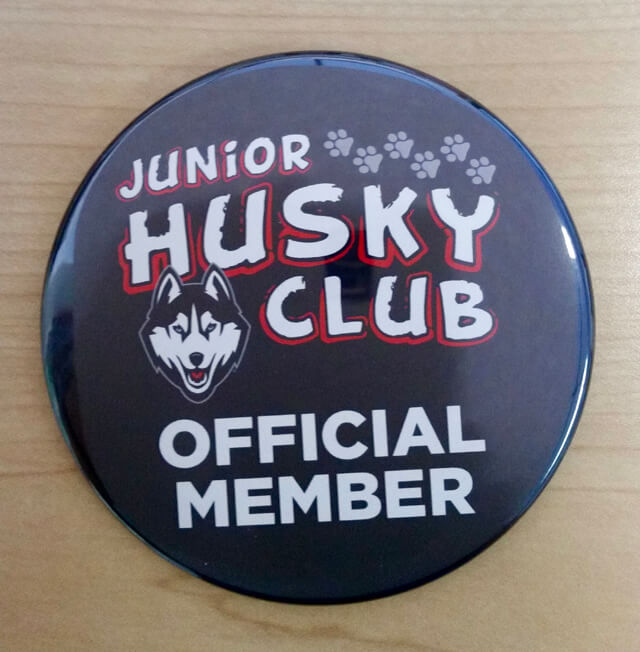 Junior Husky Club Button