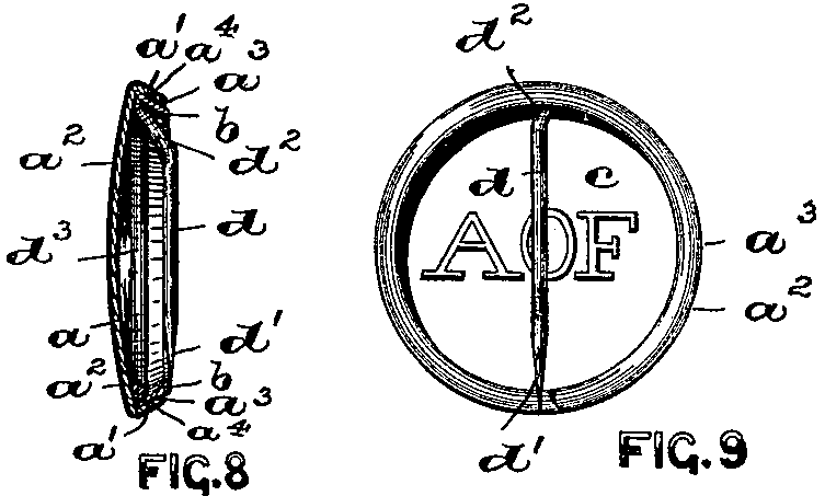 Diagram from the Pin-back Button Patent