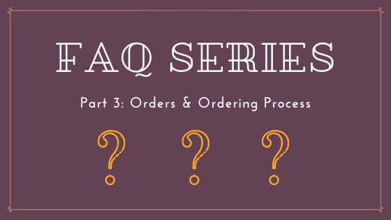 your custom button order & ordering process