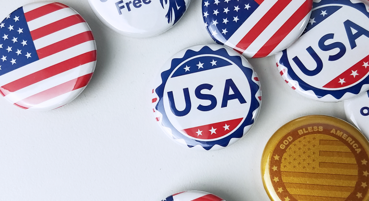Buttons with USA designs