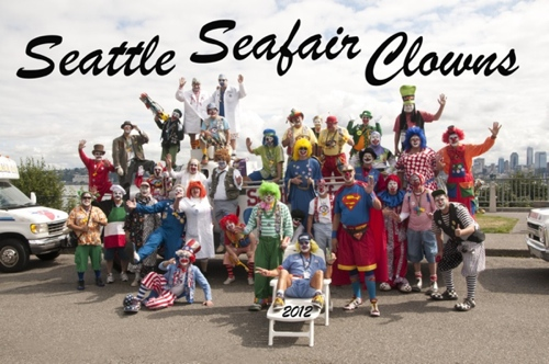 Seattle Seafair Clowns group photo