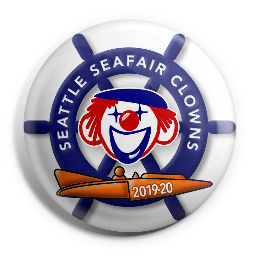 Seattle Seafair Clowns button image