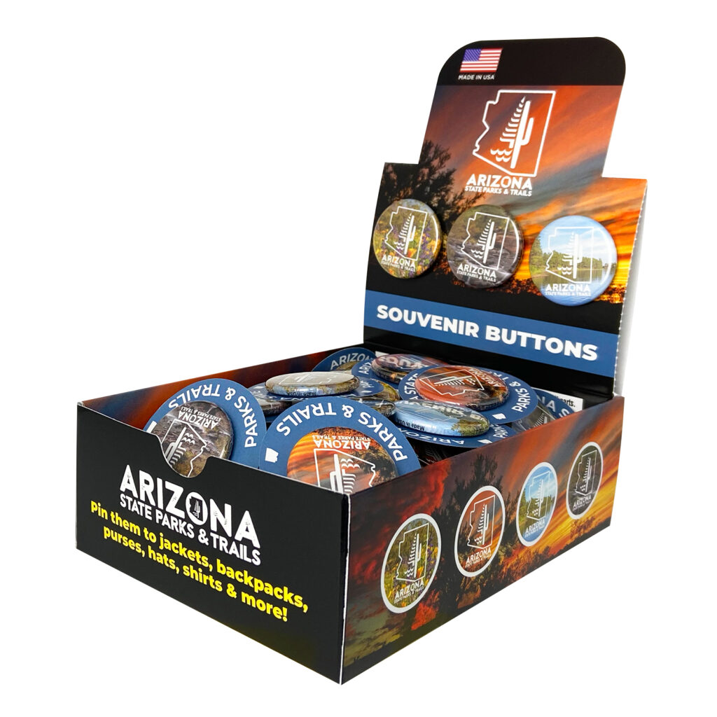 Arizona State Parks and Trails Custom Pin Button Box
