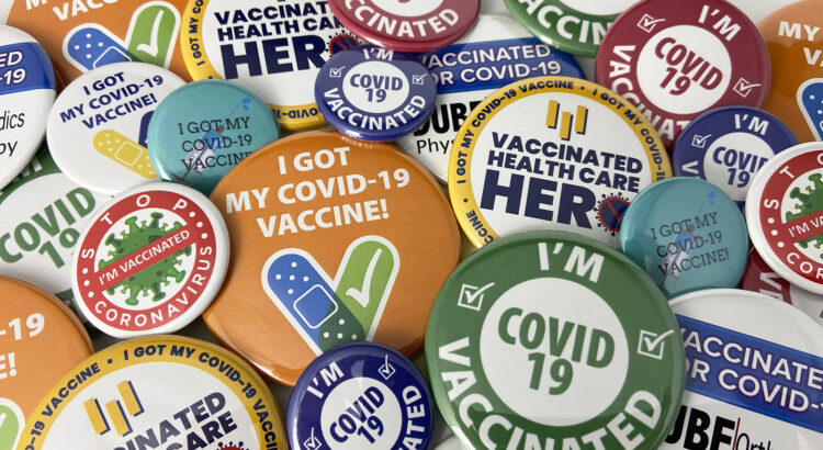 Covid-19 vaccine buttons