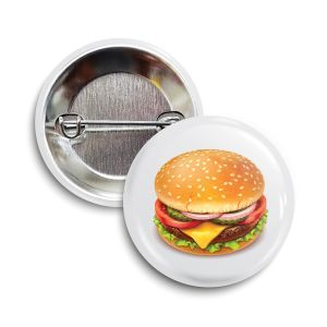 The Cheese Burger Button     June 2021  ❤️ Charity = Feeding America