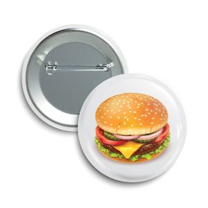 The Cheese Burger Button  |  June 2021  ❤️  Saint Mary's Food Bank® Feeding America