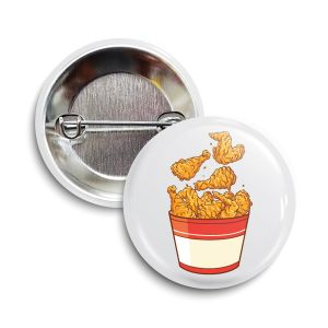 The Fried Chicken Button     July 2021  ❤️  Charity = Feeding America