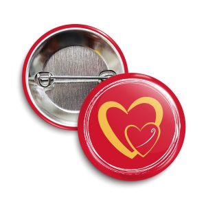 The Original Heart Button   Soft-Touch Matte Finish   ❤️  Charity = Feeding America
