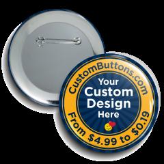 "2.5"" Round Custom Buttons"