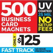 2x3.5 Inch Business Card Die-Cut Magnets
