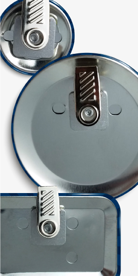 Custom Bulldog Clip Buttons