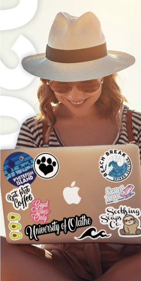 View our custom stickers catalog