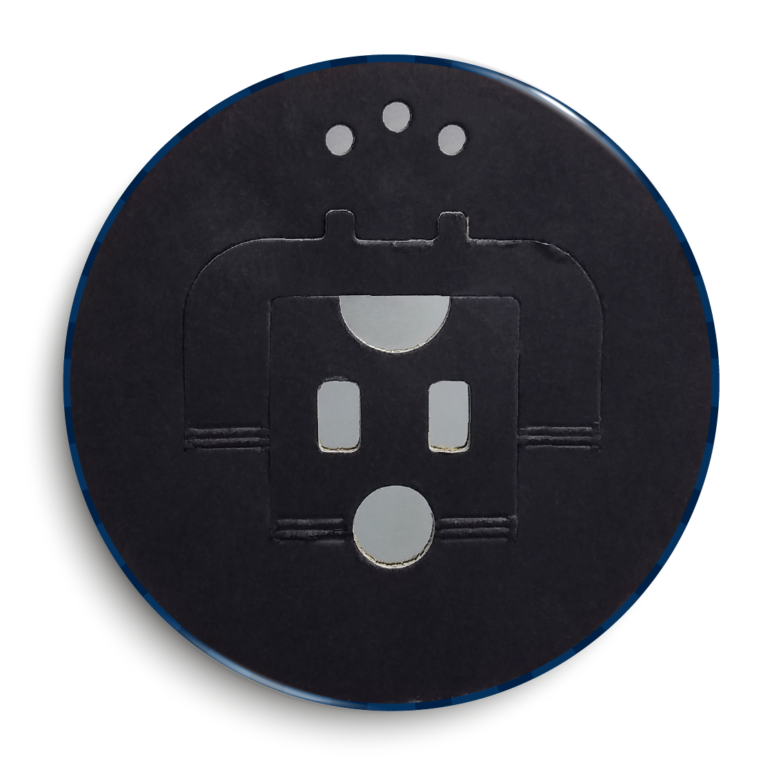 6 inch button back