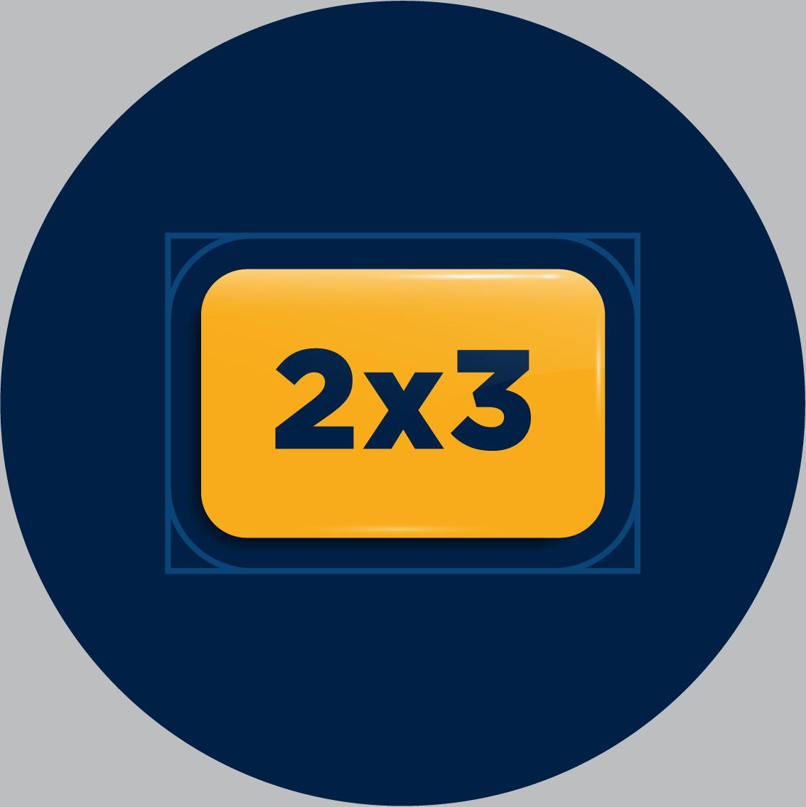 2x3 rectangle custom buttons